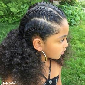 ضفائر شعر للاطفال حديثة وجميلة جدا