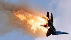 احتراق طائرة ايرانية اثناء التحليق في الجو