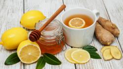 الزنجبيل والليمون للكرش